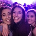 "Emma, Morgan also known as ""Mo"" and Mikaela smile for a selfie together at a concert. Emma says ""Don't let what you are going through hold you back from experiencing life."""