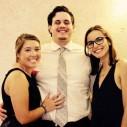 Emma, Brian (Emma's boyfriend) and Clara (Emma's friend) smile for the camera!