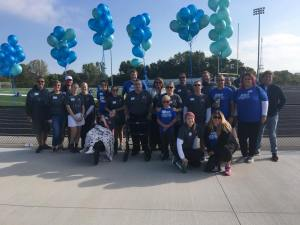 "Emma created a team full of family and friends for an awareness walk. She named her team ""Squid Strong"" after her childhood nickname, Squid. The walk for POTS took place in Kenosha, WI."